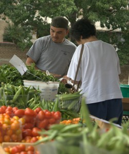 Head on over to your local Farmers' Market and check out some organic produce!