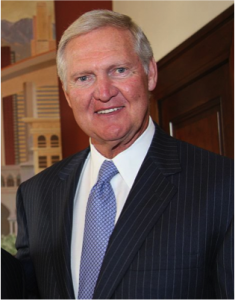 Jerry West, one of the most iconic basketball players of his time. has one of the most highly decorated careers as both a player and a coach.