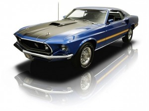 1969 Blue Ford Mustang